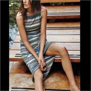 Anthro Bailey 44 Striped Diagonal Midi Dress Knot